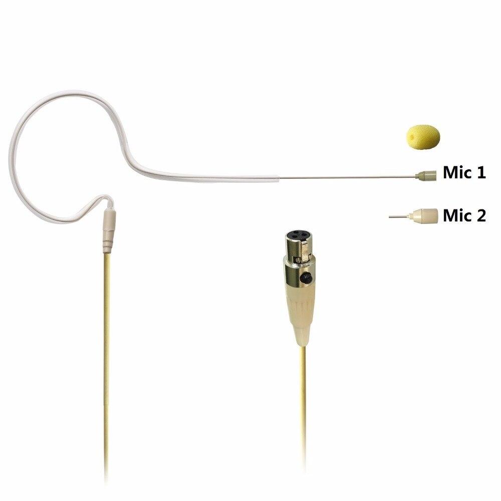 Microfone do condensador do pino da cor 3 da pele de freeboss mini xlr para o transmissor do corpo-bloco