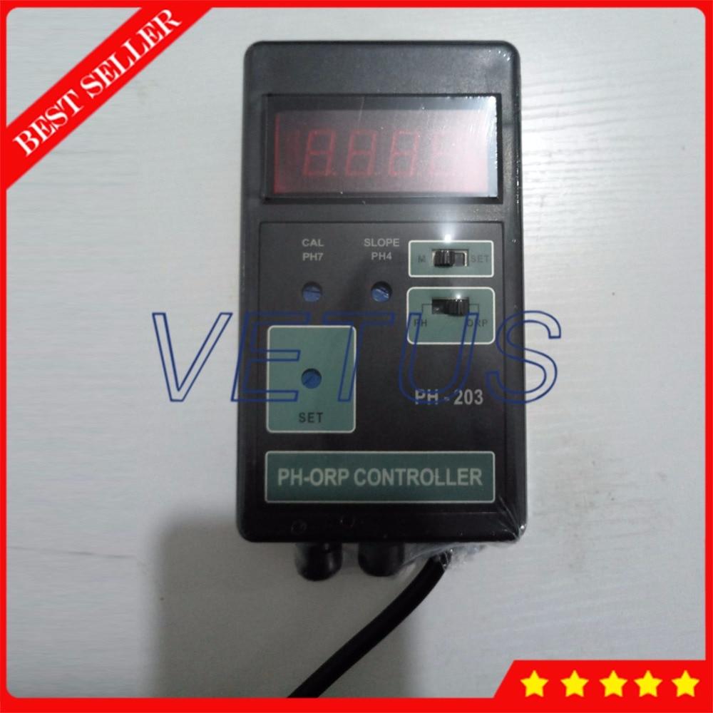 PH-203 2 en 1 controlador Digital de medidor ORP PH con equipo de prueba de monitoreo Dual multiparámetro phmeter de pantalla LED