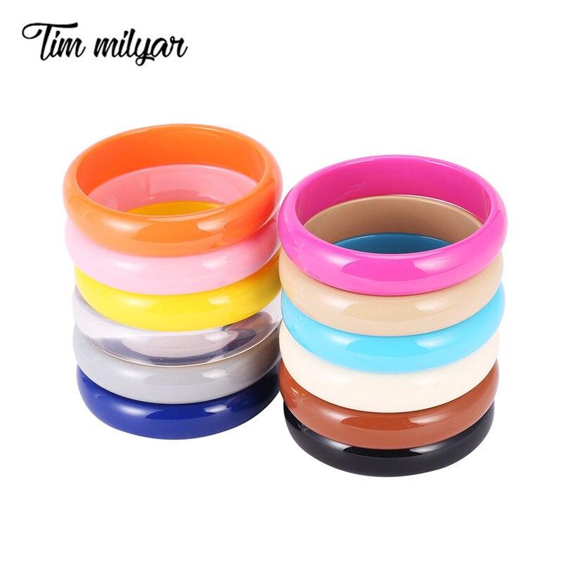 Смоляные браслеты для женщин, Большой акриловый браслет для женщин, 12 однотонных цветов, женские браслеты в стиле бохо, модные роскошные украшения в подарок 2020