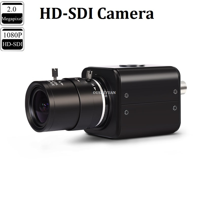 CCTV Industrial HD-SDI 2.0MP 1080P Lens 2.8-12mm HD-SDI Security Box Mini SDI Camera