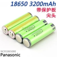 10pcslot original panasonic protected 18650 ncr18650be 3200mah 3 7v rechargeable battery lithium batteries for e cigs with pcb