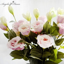 3 Branches 70cm fleur artificielle en gros trijumeau Eustoma fleur décoration de la maison faux fleur mariage fleur soie Eustoma