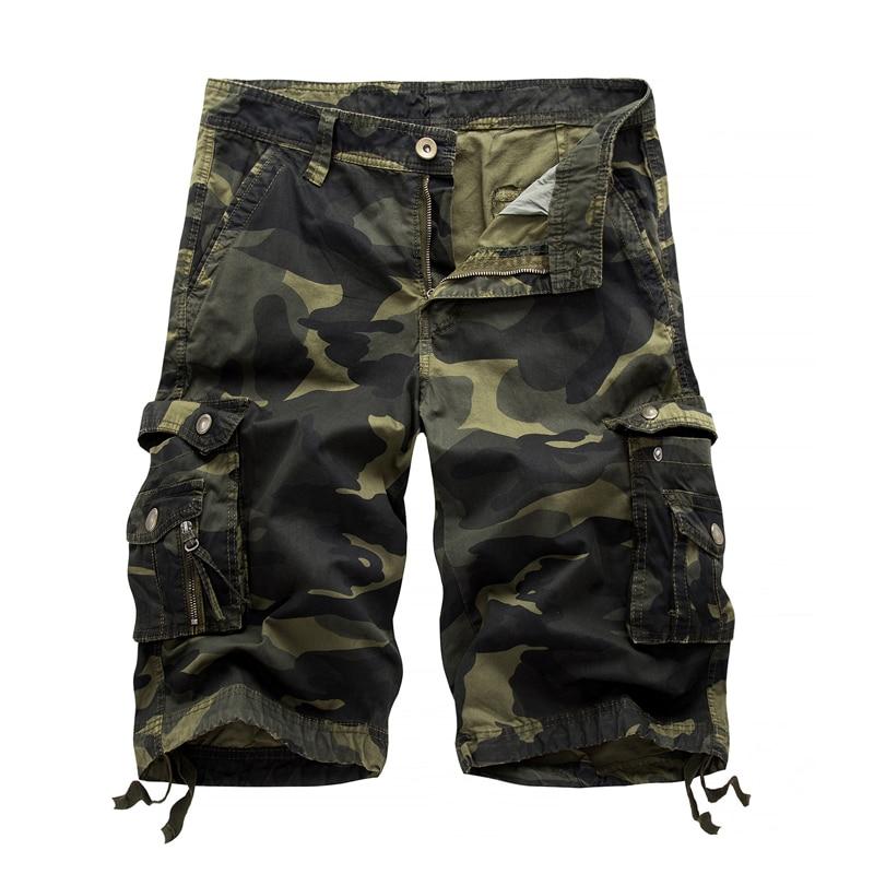 Шорты мужские пляжные в стиле милитари, повседневные камуфляжные штаны-карго, свободного покроя, рабочие, в стиле оверсайз, 29-40, лето 2021 | Мужская одежда | АлиЭкспресс