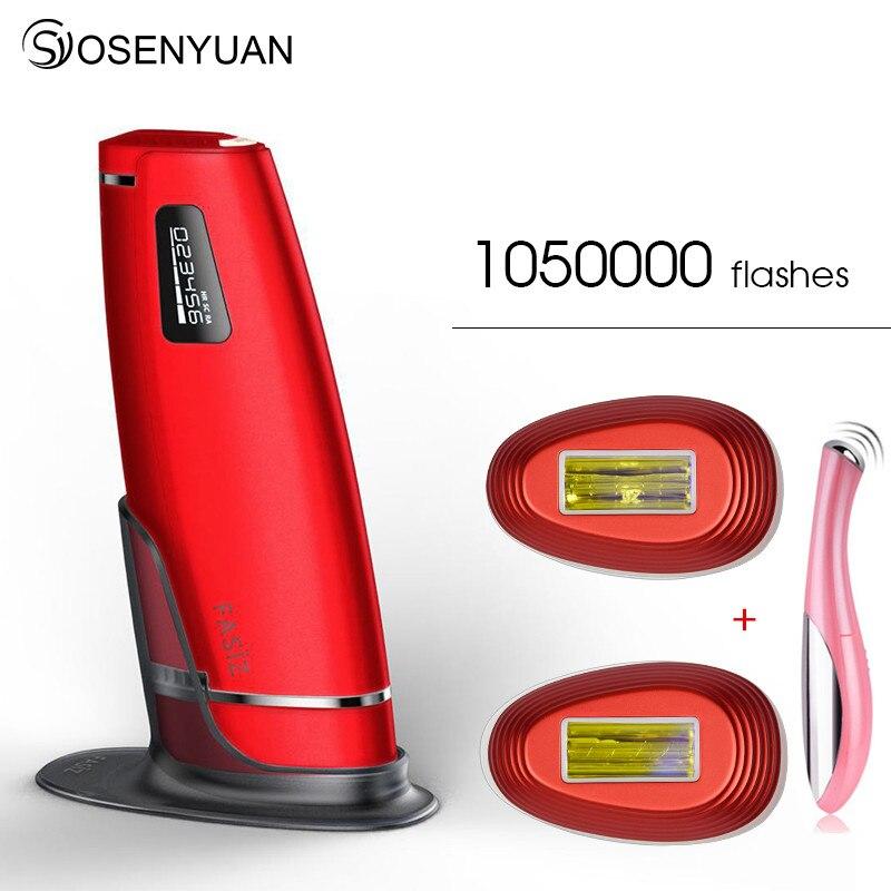 Lescolton 3in1 1050000 pulsada IPL láser Dispositivo de depilación permanente depiladora láser IPL el pelo de la axila máquina de eliminación de