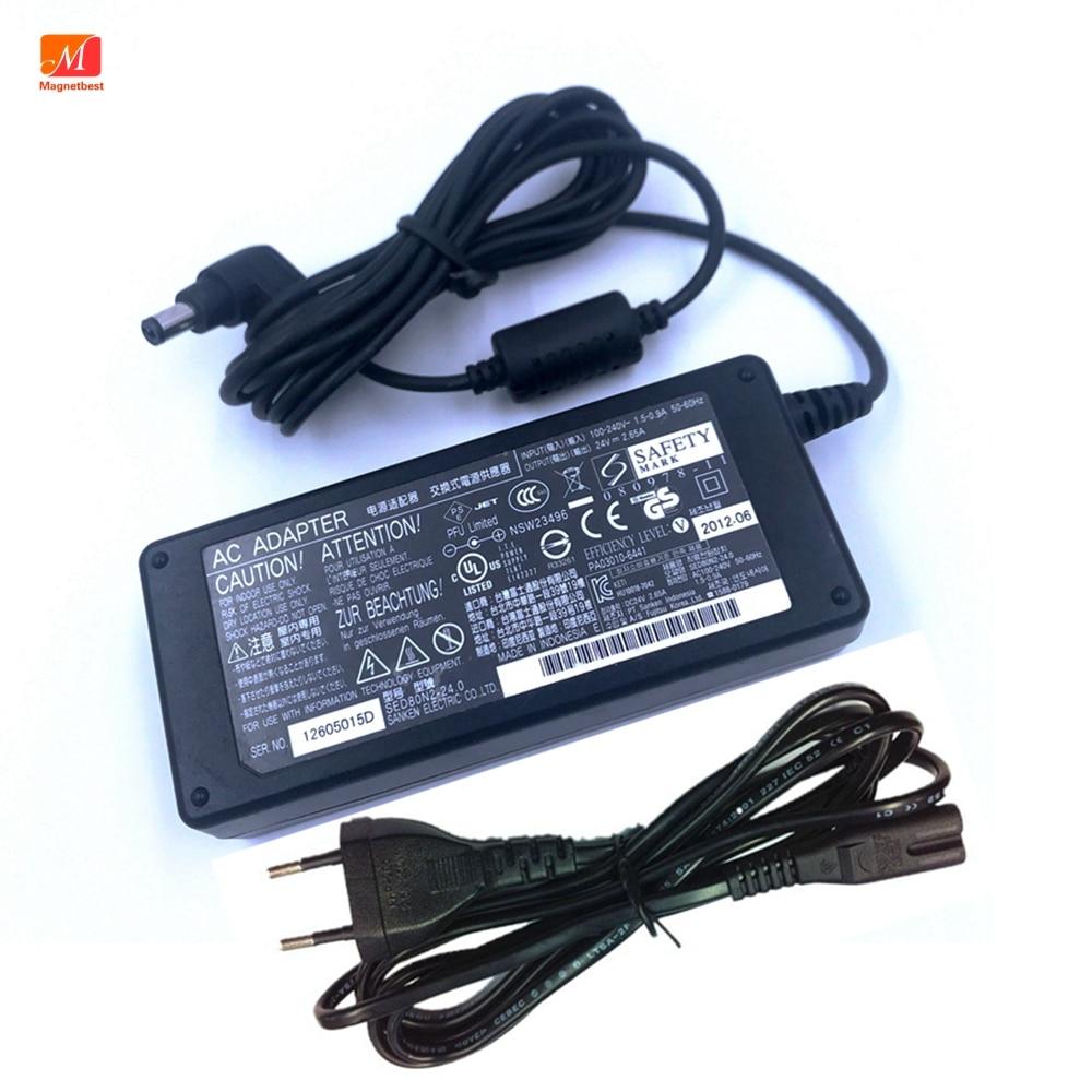 24В 2.65A AC DC адаптер зарядное устройство для Fujitsu fi6125 LA622 5LA6240 6240Z сканер питания адаптер питания принтера