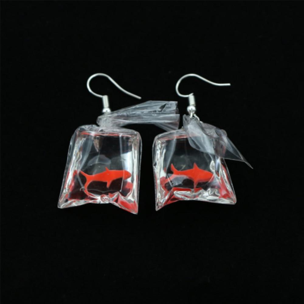 1 par de bonitos pendientes colgantes con diseño de pez Koi para mujer, nueva moda, pendientes Brincos antialérgicos, gracioso elegante