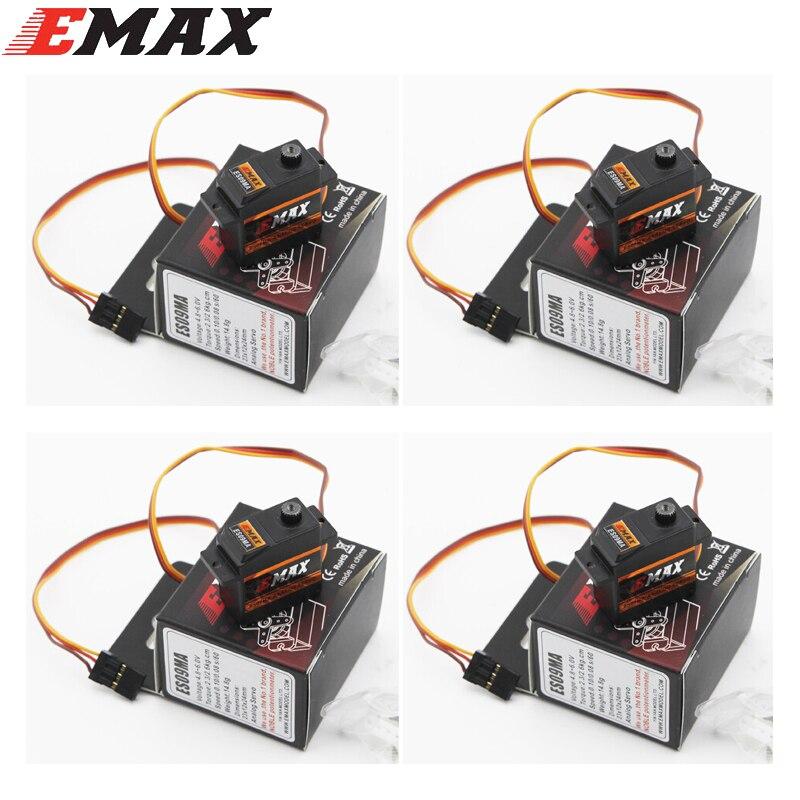 4 pz/lotto EMAX ES09MA Metallo Analogico Servi Swash Specifico per 450 Helicopter Tail meglio di Emax ES08MA