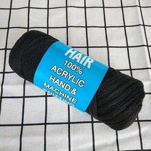 mylb 5Pcs/Lot Brazil Brazilian wool hair low temprature flame retardant synthetic fiber for braiding 70g/Pc