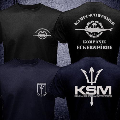 Alemania Fuerzas Especiales Kampfschwimmer KSM Kommando Spezialkrafte Marina camiseta hombres dos lados regalo Casual tee USA tamaño S-3XL