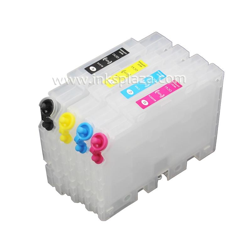 CISSPLAZA 2 juegos recargable cartucho de tinta Compatible para Ricoh GX3050N GX3050SFN GX5000 GX5050N GX7000 GX2050N GX2500 GX3000 GC21