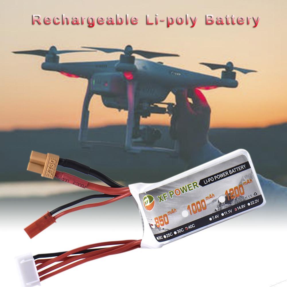XF 850 mAh 14,8 V 40C 4S conector JST XT30 enchufe de la batería recargable de litio para juguete de Control remoto