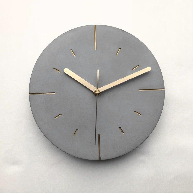 Relógio de parede de concreto redondo relógio de parede de silicone novo design molde de artesanato de cimento design redondo de cimento relógio de parede de silicone molde