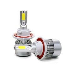 SUNKIA High Bright 30W 3800LM 8-48v DC H13 Hi/Lo Beam C6 COB LED Chip Car LED Headlight Powerful Car Styling Auto Headlamp