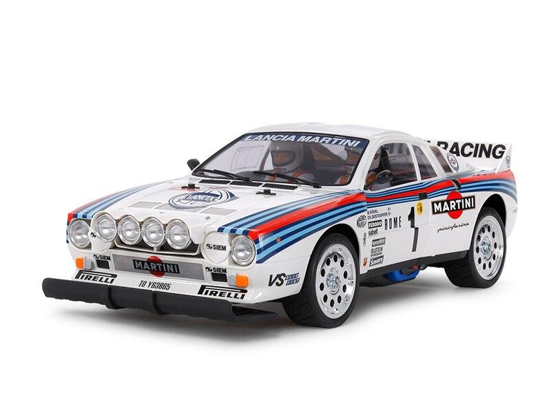 Kit de coche de Rally Tamiya 58654 1/10 RC TA02S chasis Martini Racing Lanciia 037 con ESC
