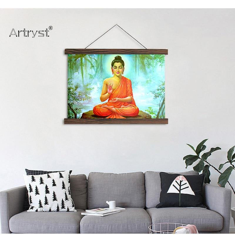 Artyst прокрутка картины Будды картина и плакат HD изображение напечатано на холсте Бесплатная доставка для гостиной украшения SCP (128)
