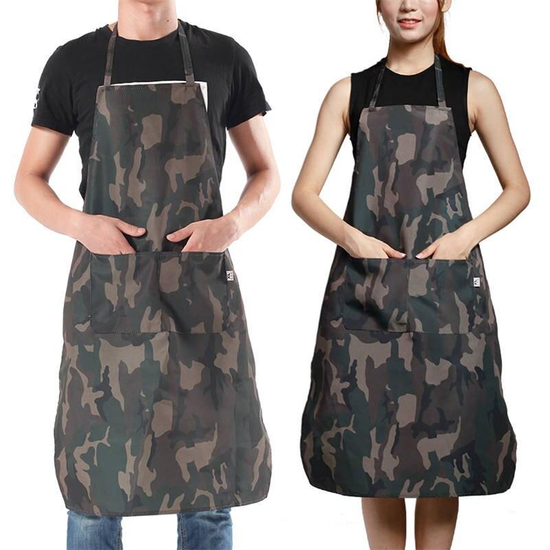 Delantal impermeable de camuflaje, delantal sin mangas para limpieza de jardín, cocina, restaurante, ropa de trabajo al aire libre
