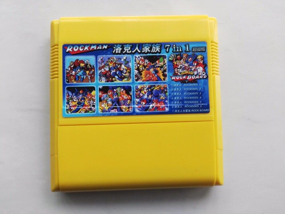 Tarjeta de juego de 8 bits de 60 pines cartucho de colección Rockman 6 en 1 (versión de Japón!)