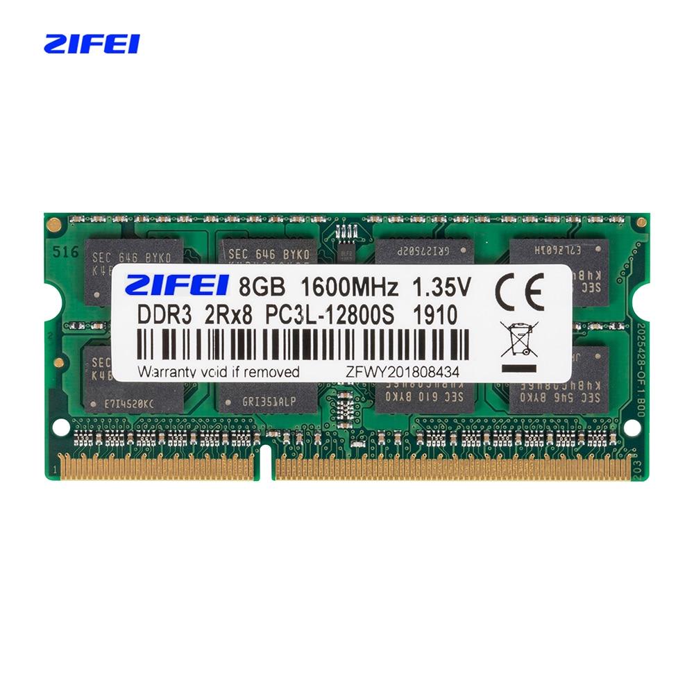 ZIFEI DDR3L 8GB 4GB 1600 1333 MHZ 1.35V Laptop sdram so dimm Memory ram