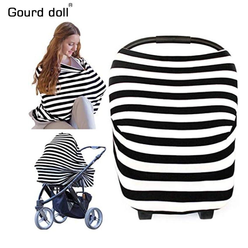 Muñeca de calabaza que amamanta la cubierta de la privacidad de la lactancia bufanda del bebé ASIENTO DE Coche infantil cochecito bufanda de lactancia