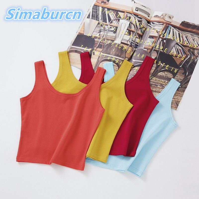 Multicolor Women Tank Tops New Summer Sleeveless Strapless Sexy Femme Casual Girl Slim Short T Shirt Vest Ladies Camis Female