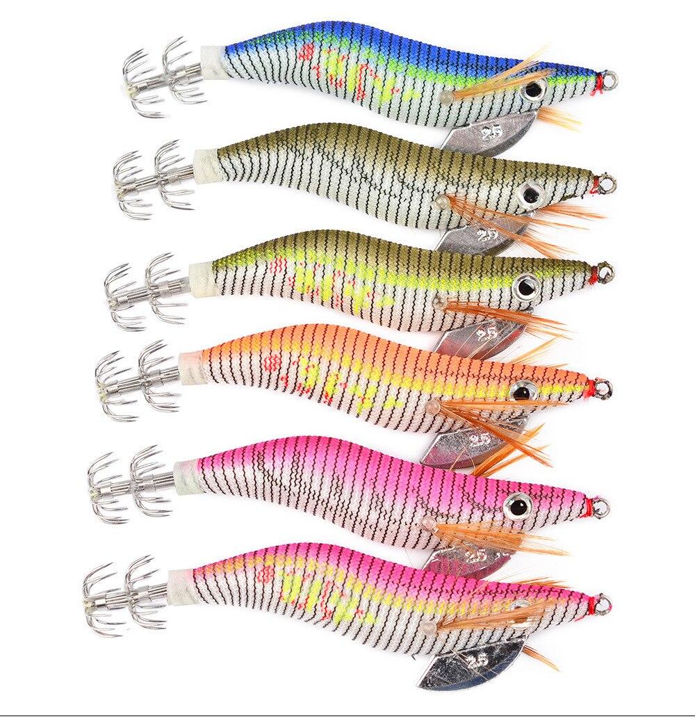 6 шт./лот, светящиеся Джиги для рыбалки с креветками, пластиковая приманка 80 мм/11 г, серебристая приманка, набор, кальмарная креветка, осьминог, искусственная морская рыболовная приманка