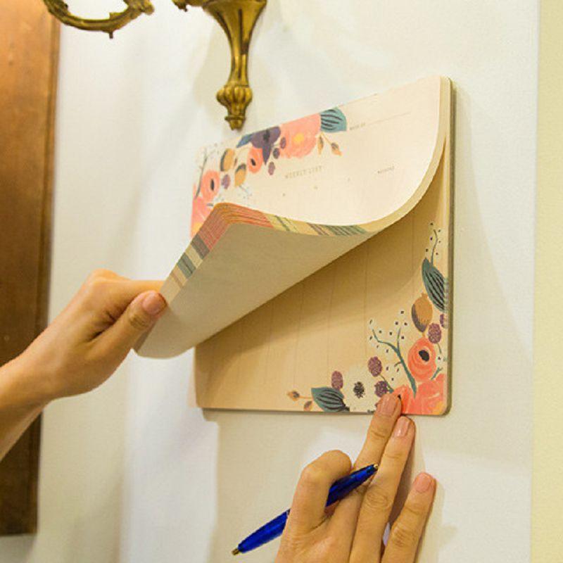 Planificador semanal cuaderno de bocetos material agenda 2017 escolar floral caderno agenda escolar papelería diario defter agendas