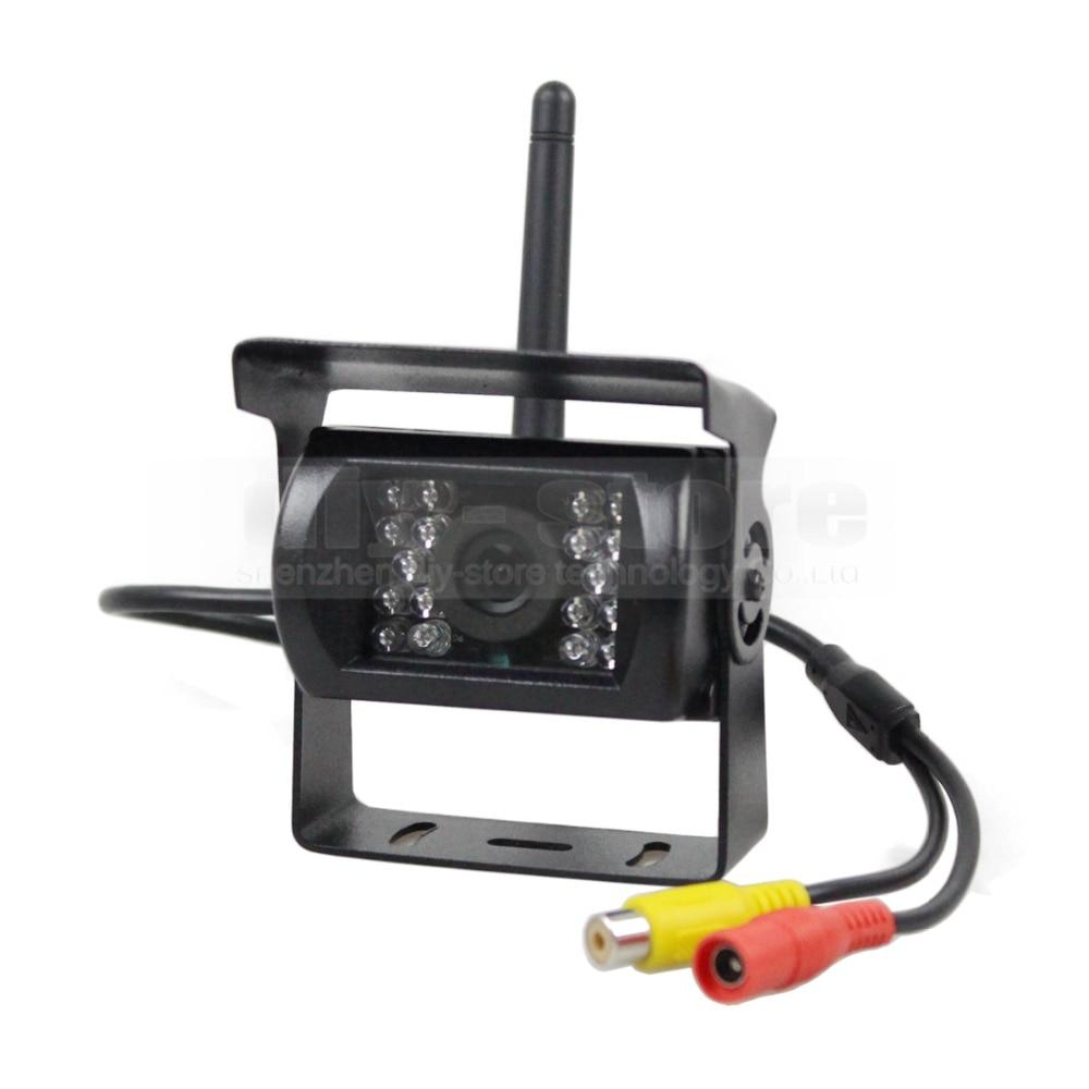 DIYKIT Wireless Transmission HD 800 x 480 7inch Car Monitor IR CCD Rear View Backup Camera for Car Bus Truck Caravan Trailer RV