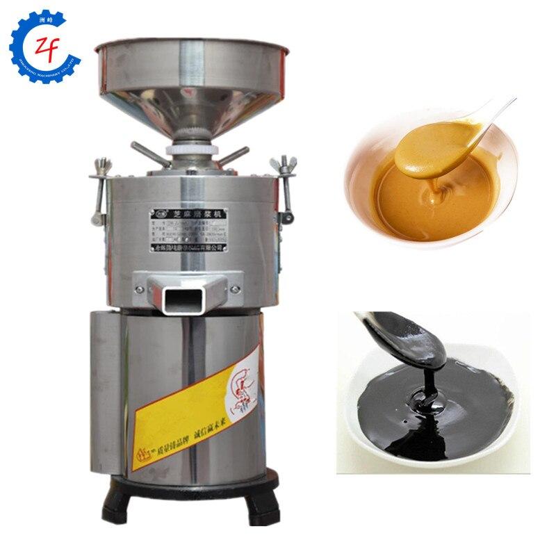 Amoladora de acero inoxidable de 15 kg/h para mantequilla de maní, pasta de sésamo, máquina trituradora de pasta de cacahuete
