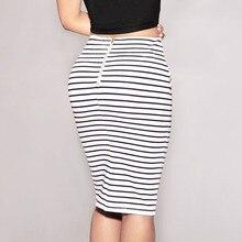 Women Striped Skirt Sexy Slim Short Pencil Skirts Bow Tied Skirt