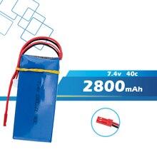 Lipo batterie 7,4 V 2800 mAh 2 s für WLToys V262 V333 V323 V666 RC Hubschrauber Quadcopter drone teil