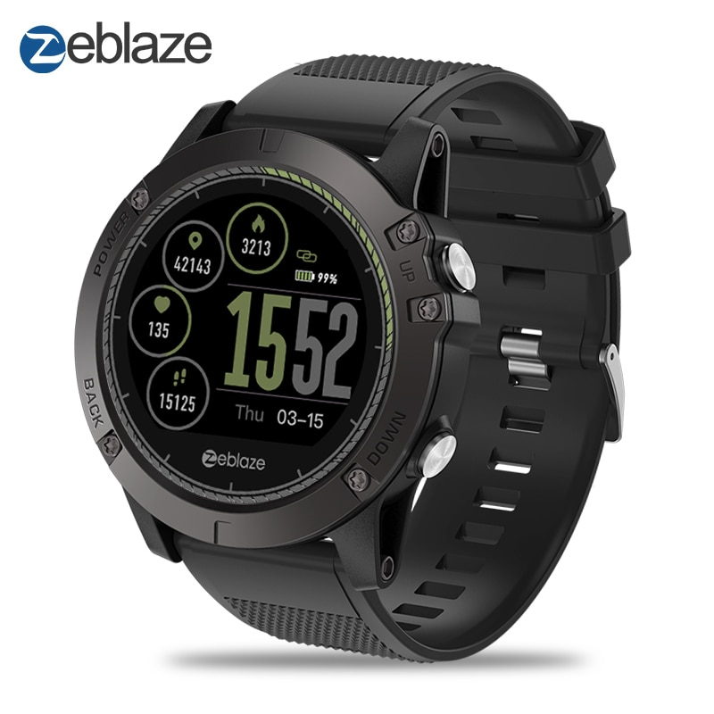 Sport Bluetooth Smart Watch Zeblaze VIBE 3 HR Smartwatch All-Day Activity Tracking Multi-Sensors Sleep Monitor Multiple Language