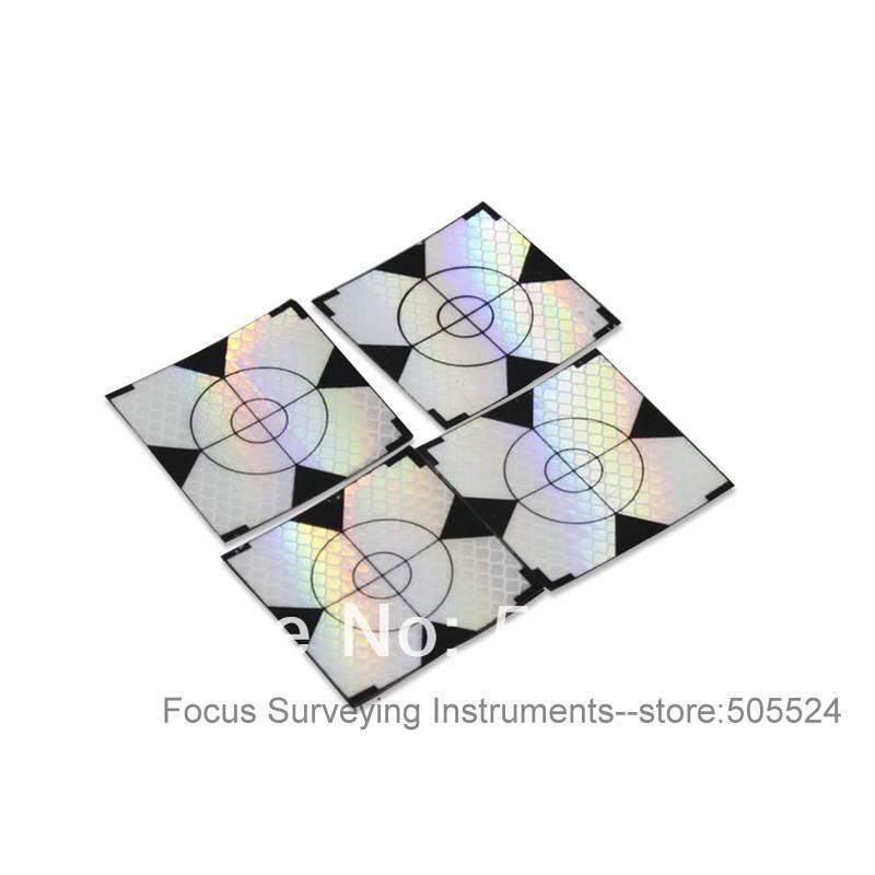 New 60 Pcs Reflector Sheet40 x 40mm Reflective Tape Target