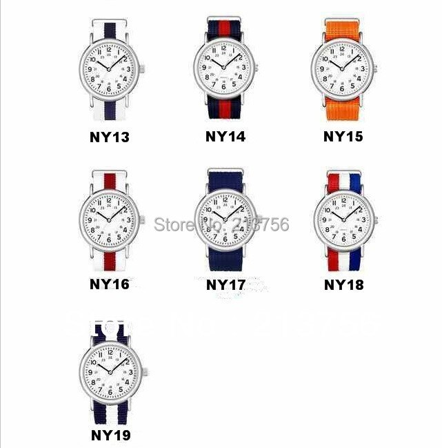 Wholesale 2000PCS/lots High quality 20MM Nylon Watch band NATO waterproof watch strap fashion wach band- 81 color available