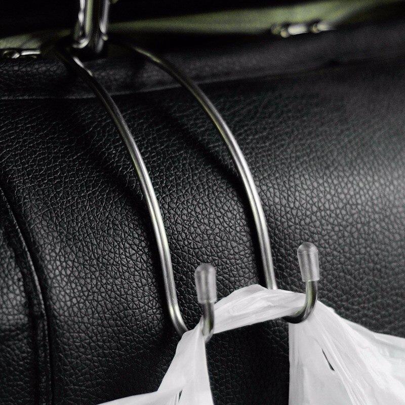 Multi-funcional Metal Auto para reposacabezas de asiento de coche percha bolsa gancho titular para bolsa tela para bolso almacenaje de alimentos Auto Clip de sujeción