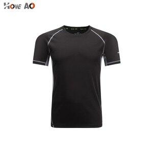 HOWE AO GYM Shirt Sport T Shirt Men  Quick Dry Fit Running T-Shirt Men Fitness T shirt Elastic Sportswear Basketball T shirt
