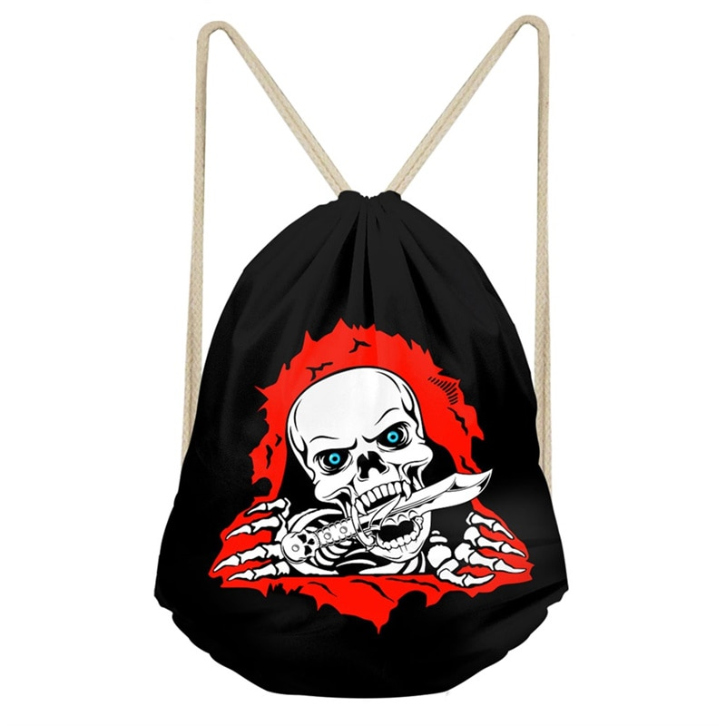 Creo que negro muy Lobo genial ojos cráneo mochilas para hombres niños bolsas de hombro de moda de bolsas de viaje de almacenamiento bolsa Mochila