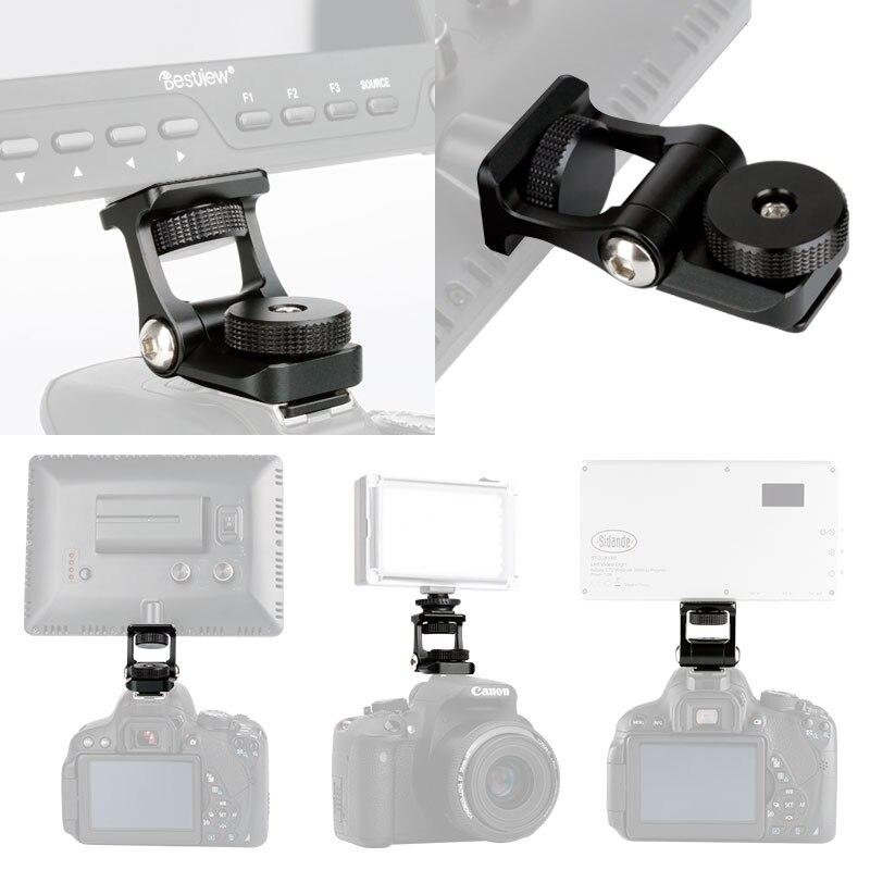 Soporte Universal para Monitor de cámara de vídeo Feelworld F6S Bestview S7 S5 soporte de montaje de rotación 180 ajustable con soporte de zapata fría
