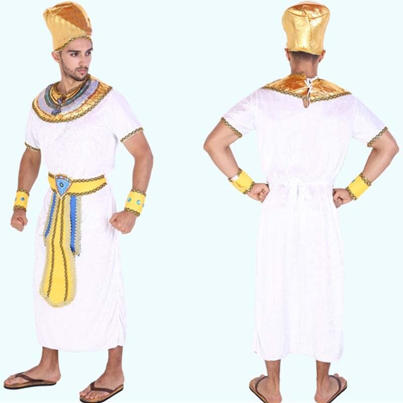 Adulto hombre Egipto disfraz Rey reina Faraón Cosplay disfraces Halloween vestido de carnaval suministros de fiesta