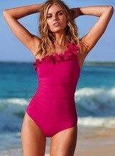 Ruffle Eendelig Badpak oversize Vrouwen Cover Buik Badmode Afslanken Retro Bodysuit Badpakken Monokini Plus Size beachwear