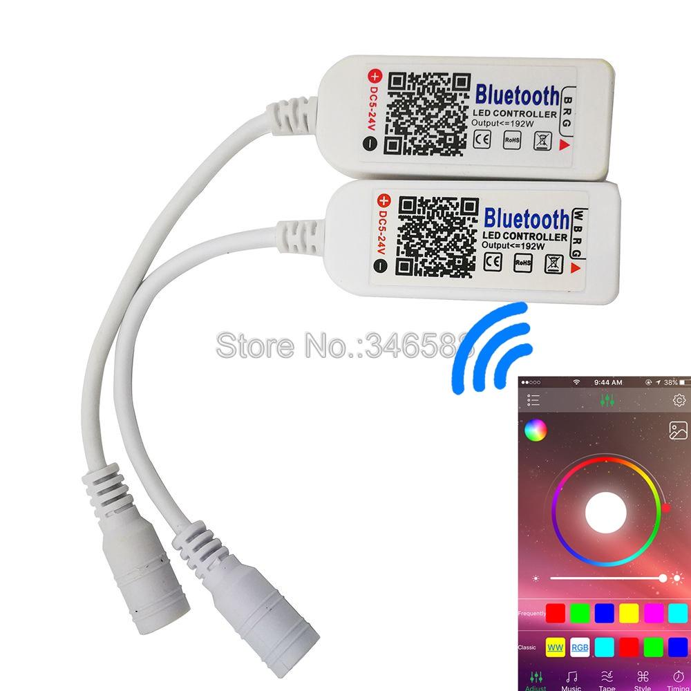 Happy Lighting DC5V-24V Bluetooth V4.0 RGBW RGB LED Light Strip Controller Smartphone Remote Control on iOs / Android APP