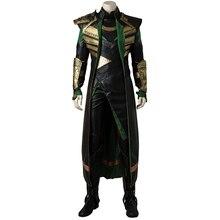 Thor el mundo oscuro Loki Cosplay disfraz Thor 2 Loptr traje Cosplay para Halloween traje uniforme hombres adultos hecho a medida