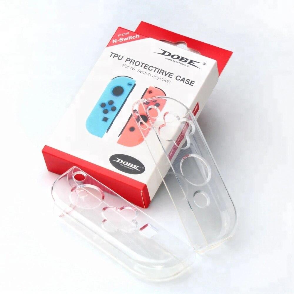 Para Interruptor Pequena Alça TPU Caso Transparente TPU Soft Case de Proteção para Nintendo Interruptor Alegria-con