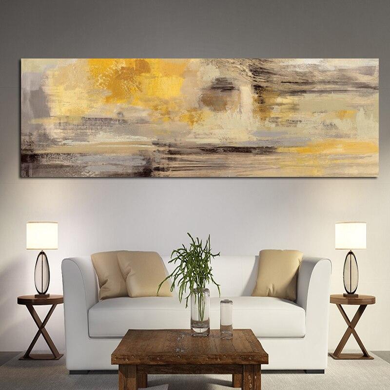 Pintura a óleo amarela abstrata em tela, posteres e impressões, moderna, arte escandinavo, imagem, decoração para quarto de crianças, quarto quadros