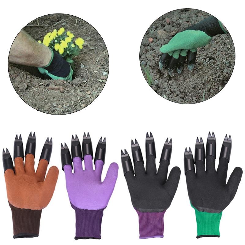 1 par de guantes de jardín de plástico ABS, guantes de goma para jardín con garras y rápidas, fáciles de cavar, plantas para excavar, herramientas para plantar en el jardín