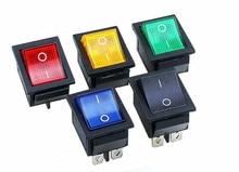 KCD4 interrupteur électrique à bascule   Interrupteur à bascule, 16A 250VAC/20A 125VAC, bouton rouge, 4 broches