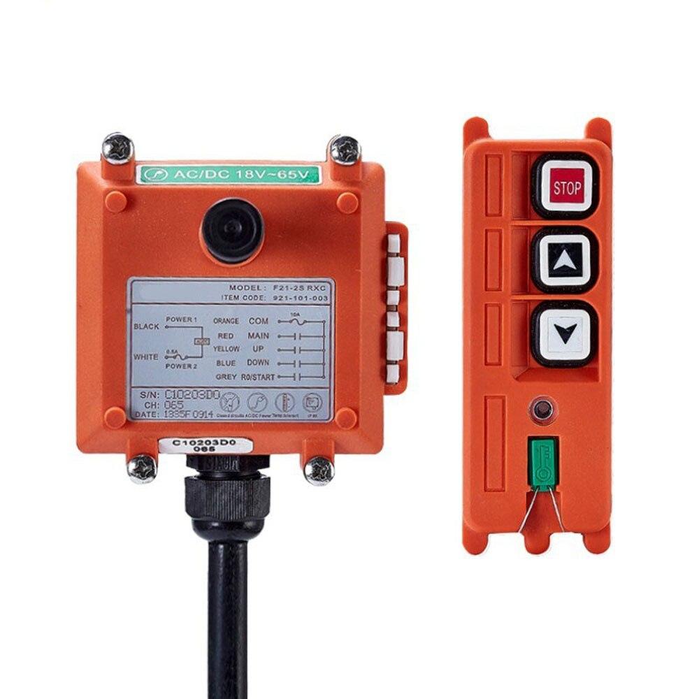 Telecrane industrial sem fio controlador remoto elétrico talha controle remoto 1 transmissor + 1 receptor F21-2S