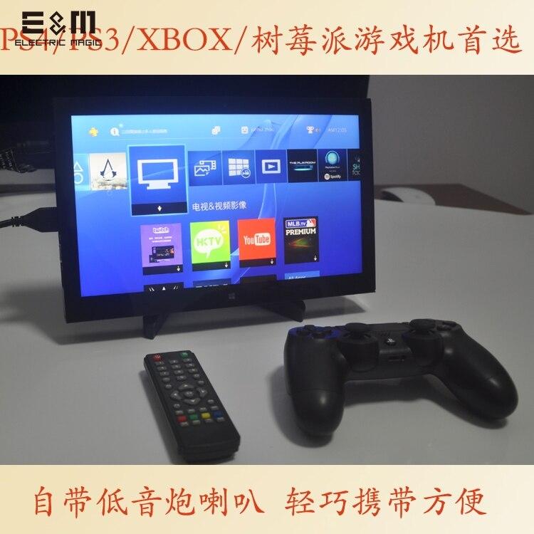 E & M 11.6 Polegada 1920*1080 Display Do Jogo Portátil Falante Dentro IPS Mini HDMI VGA USB 3.5 Jack Carro Raspberry Pi Monitor Xbox PS4