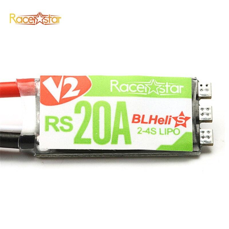 Nuevo Producto Racerstar RS20A V2 nuevo 20A Blheli_S OPTO 2-4S ESC soporte Oneshot42 Multishot para FPV Racer