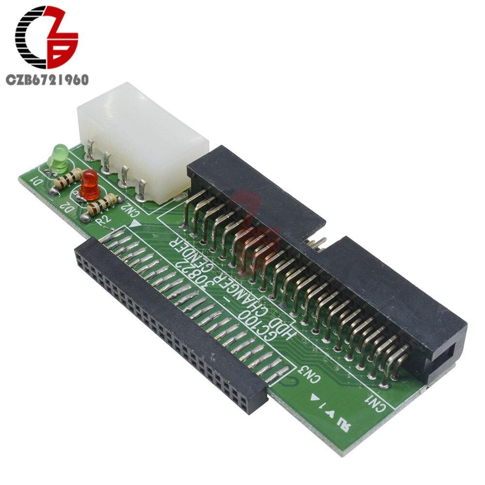 Adaptador de tarjeta SATA PATA/IDE a Serial ATA, convertidor para HDD DVD de 40 Pines de 2,5 a 3,5 pulgadas