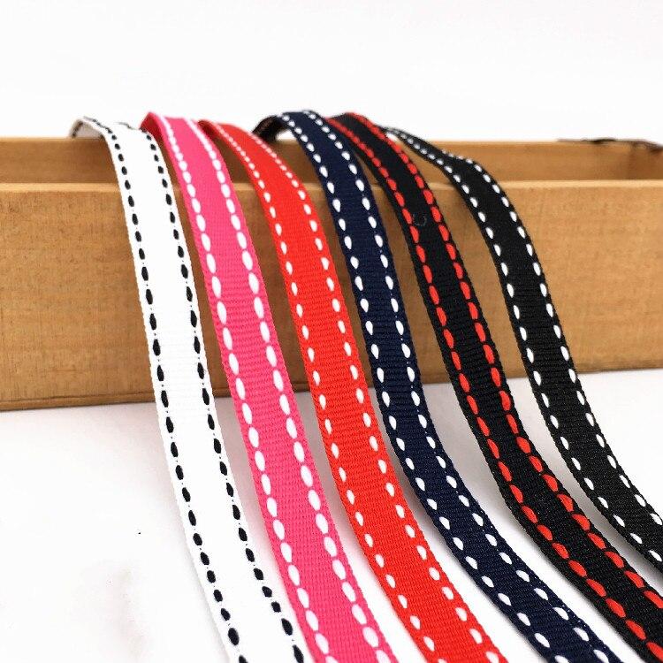10 мм ширина многоцветная нижняя полоса для прыжков ленты blet DIY ручной работы аксессуары для одежды сумки украшения принадлежности 6 видов цв...